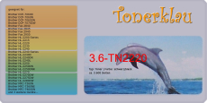 Toner 3.6-TN2220 kompatibel mit Brother TN-2220