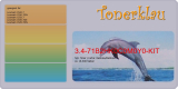 Toner 3.4-71B2HK0C0M0Y0-KIT kompatibel - Rainbow Kit mit Lexmark 71B2HK0 / 71B2HC0 / 71B2HM0 / 71B2HY0