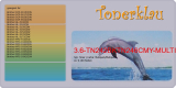 Toner 3.6-TN242BKTN246CMY-MULTI kompatibel mit Brother 1x TN-242BK  und je 1x TN-246 C/M/Y